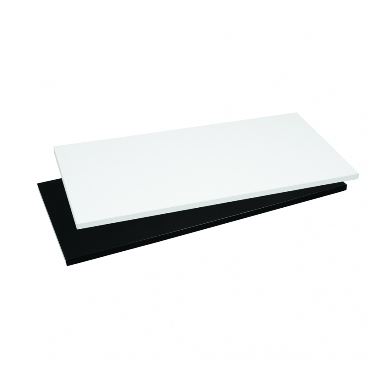 Holzfachboden Wandmodul breit schwarz