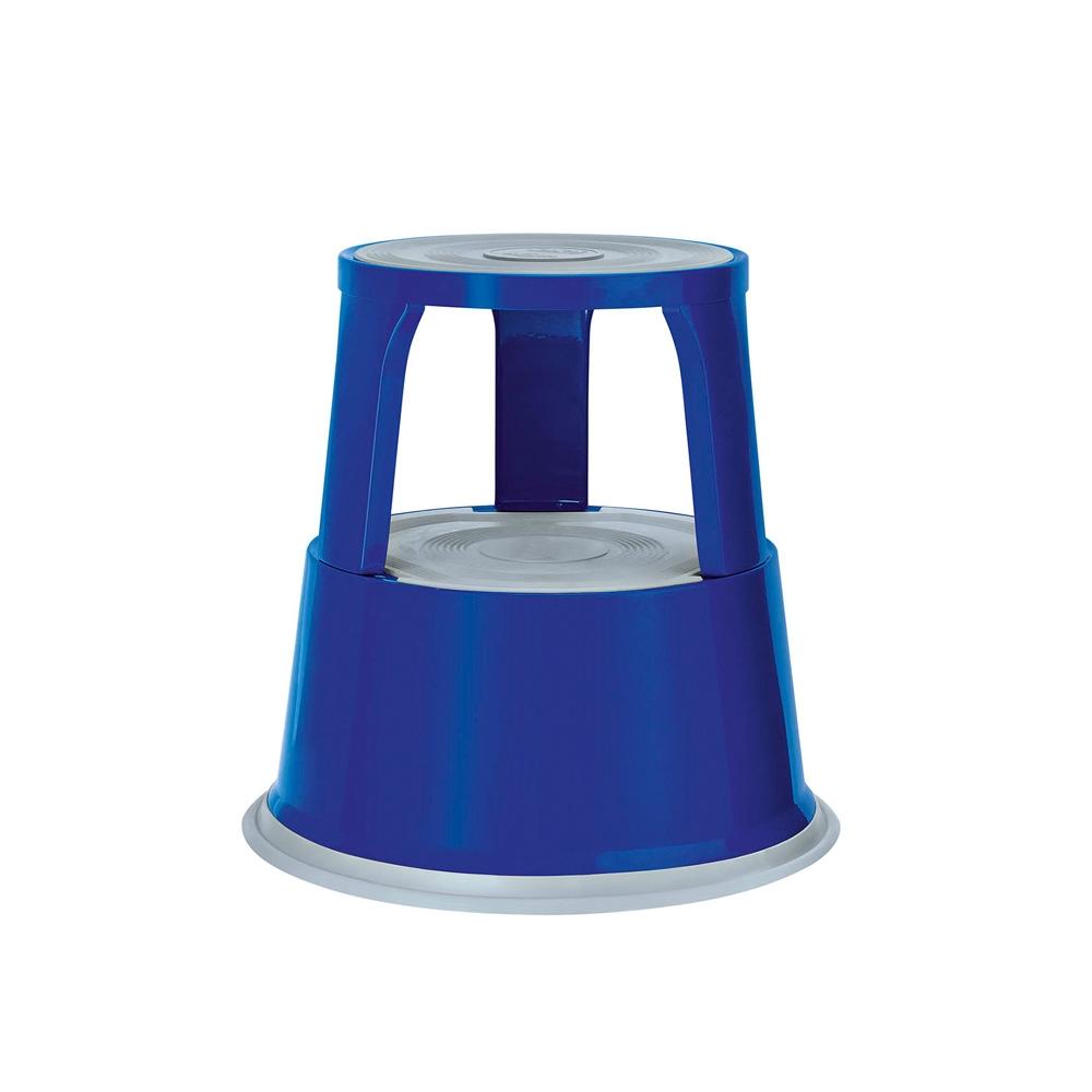 Rollhocker Metall blau