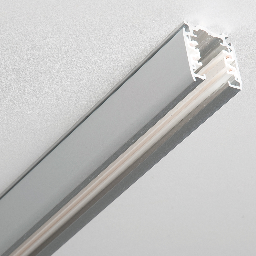 3-Phasen Stromschiene grau, 200 cm