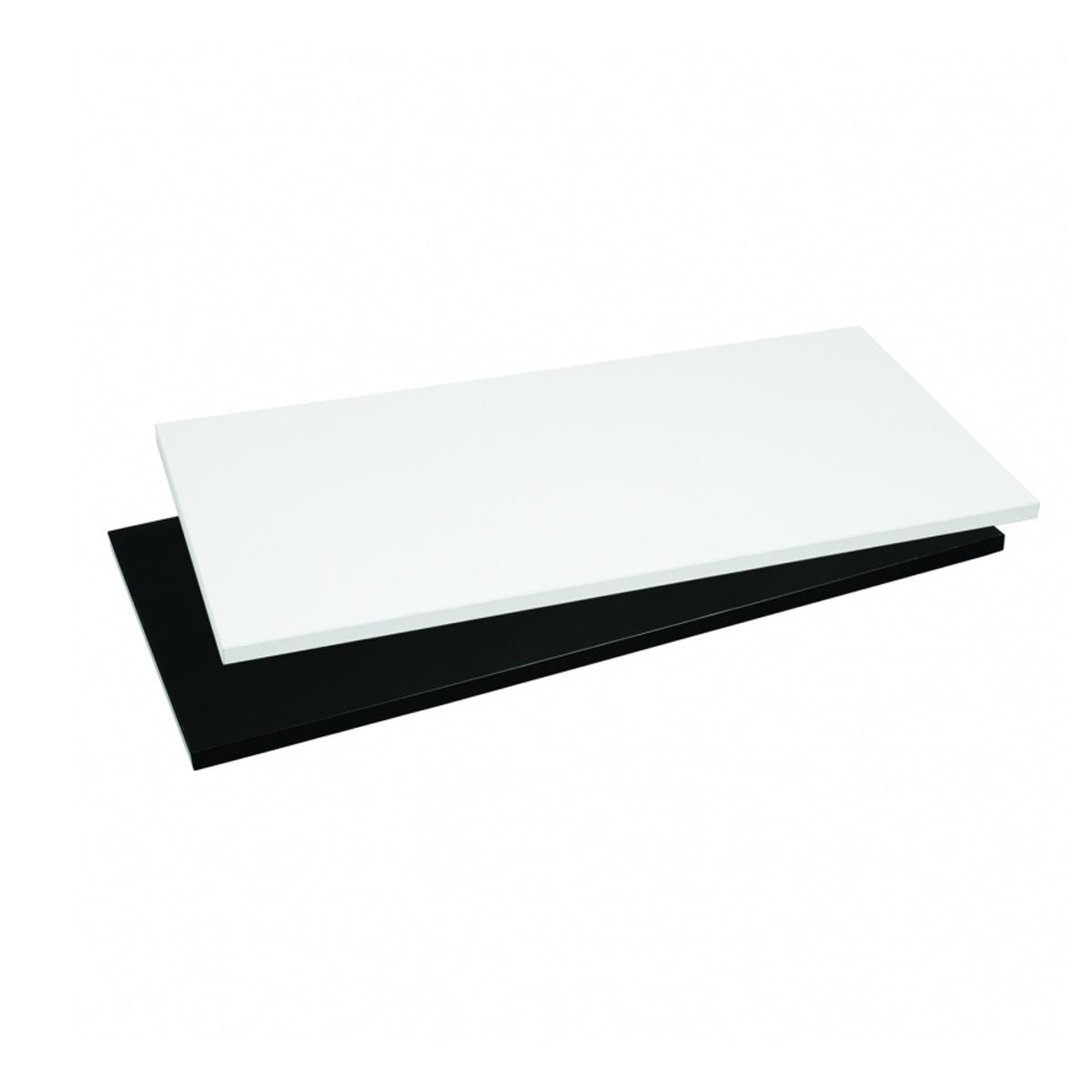 Holzfachboden Wandmodul breit weiß