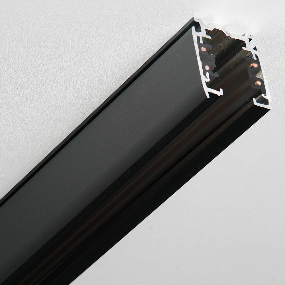 3-Phasen Stromschiene schwarz, 200 cm