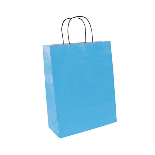 Papier Tragetüte hellblau