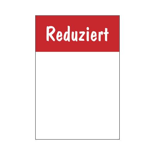 Rahmenschild 'Reduziert' DIN A4