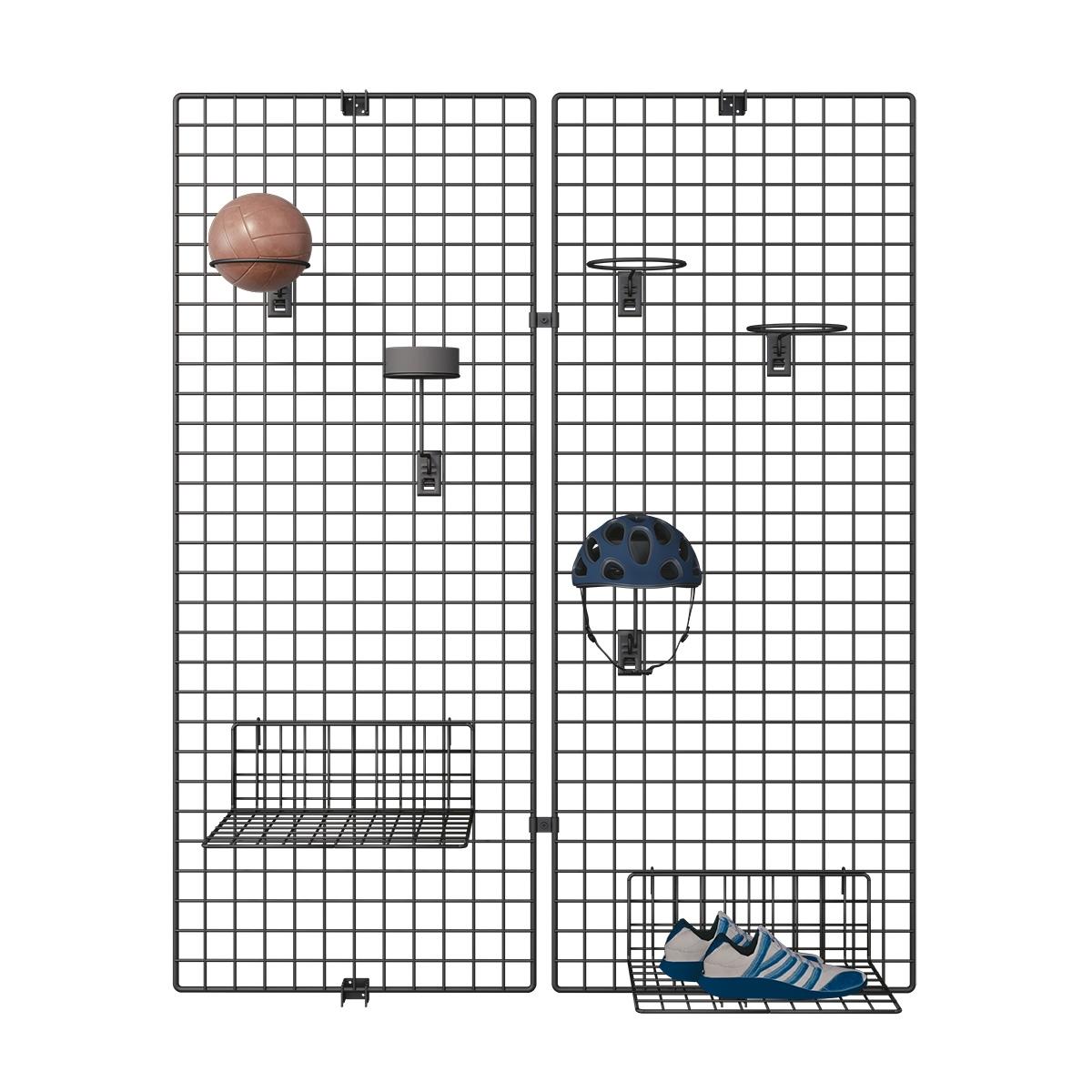 Deko Wandgitter 2er-Set: 60 x 100 cm