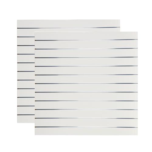 Spacewall Lamellenwand Slatwall 2er-Set weiß hochglanz