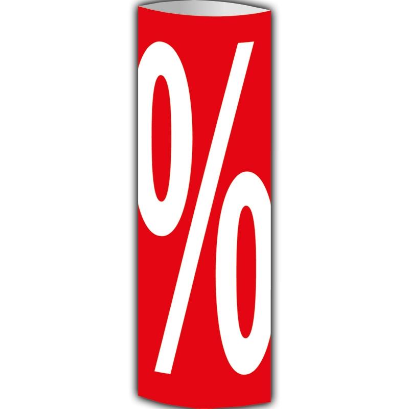 Säulendisplay '%-Zeichen'