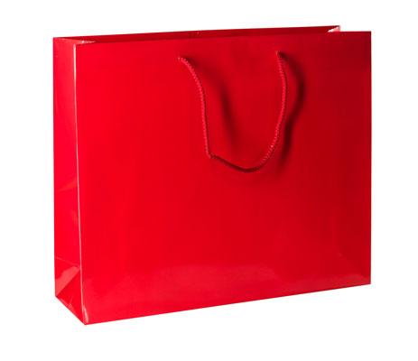 Papiertragetasche mit Kordel rot