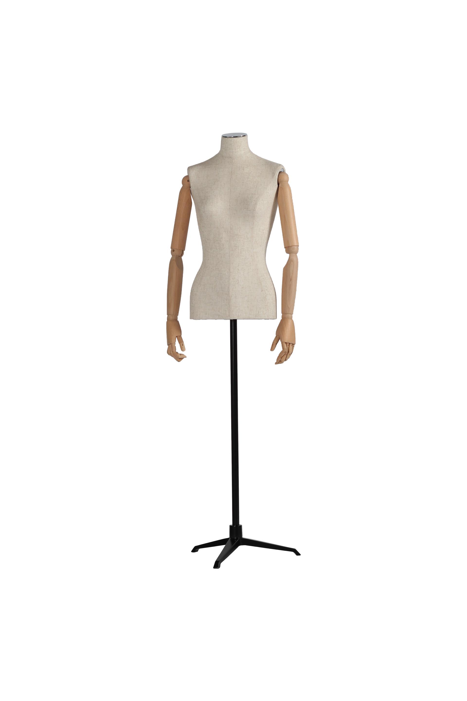 Stoffbezogene Damenbüste ohne Kopf