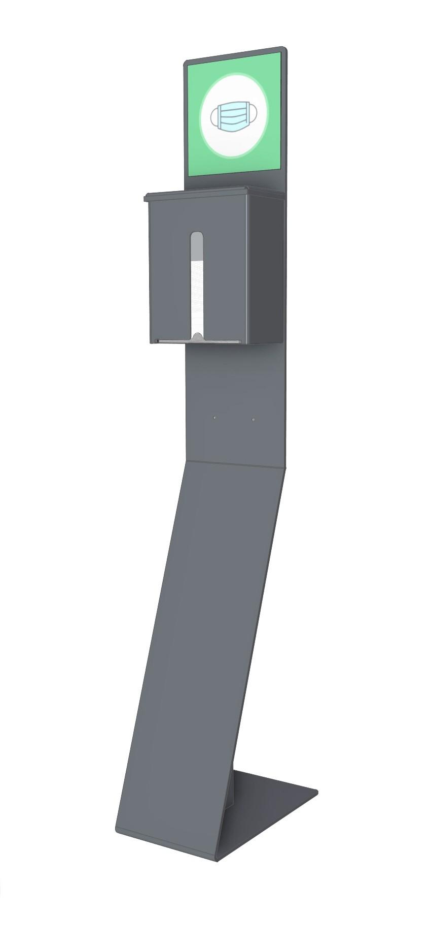 Multifunktionale Stele für Atemschutzmasken