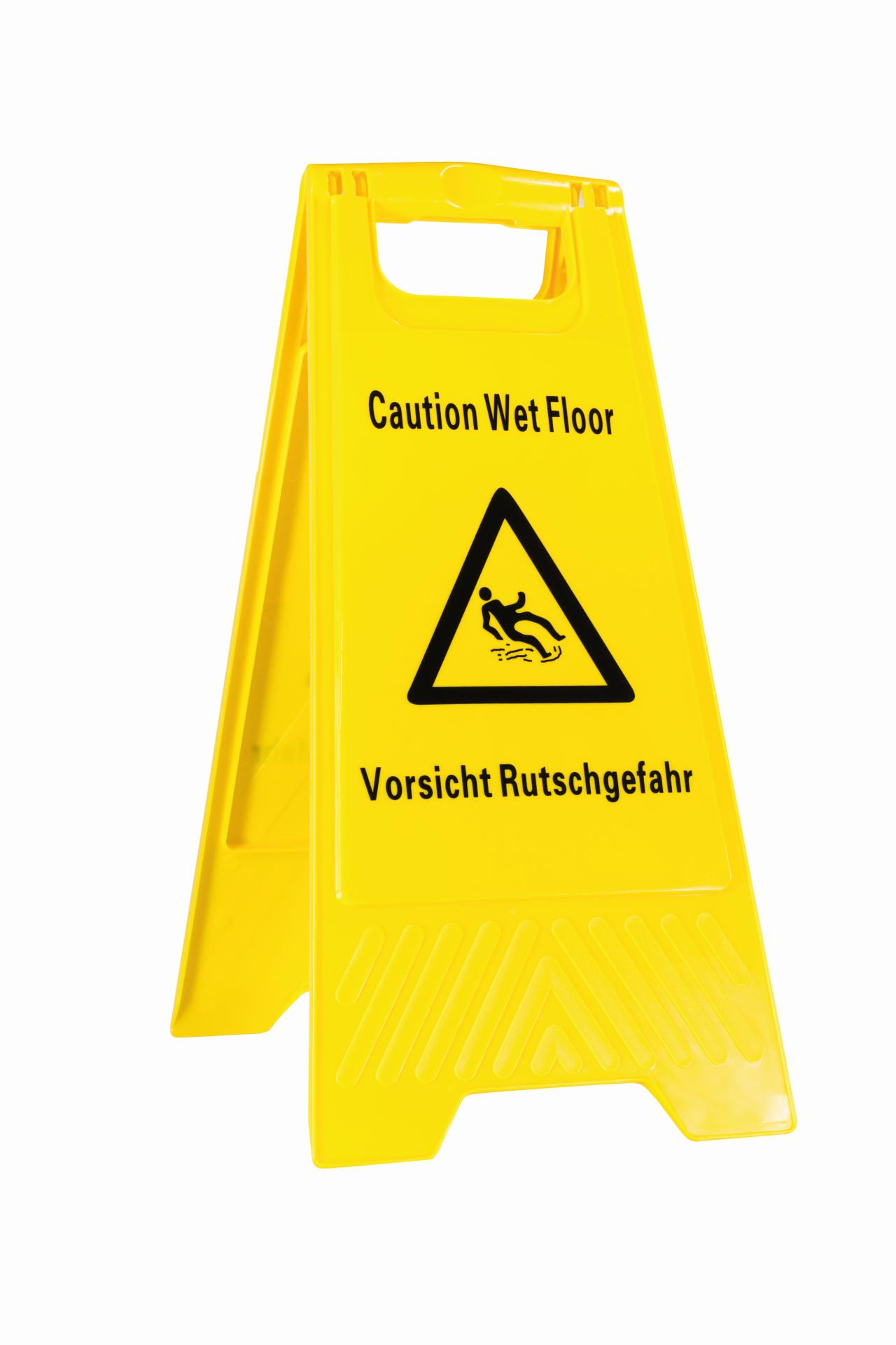 Warnschild - Vorsicht Rutschgefahr