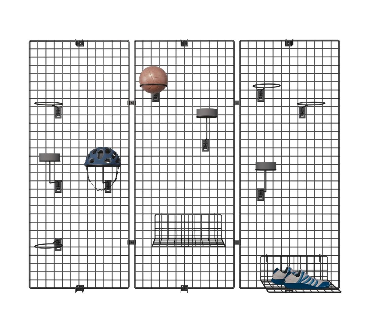 Deko Wandgitter 3er-Set: 40 x 200 cm