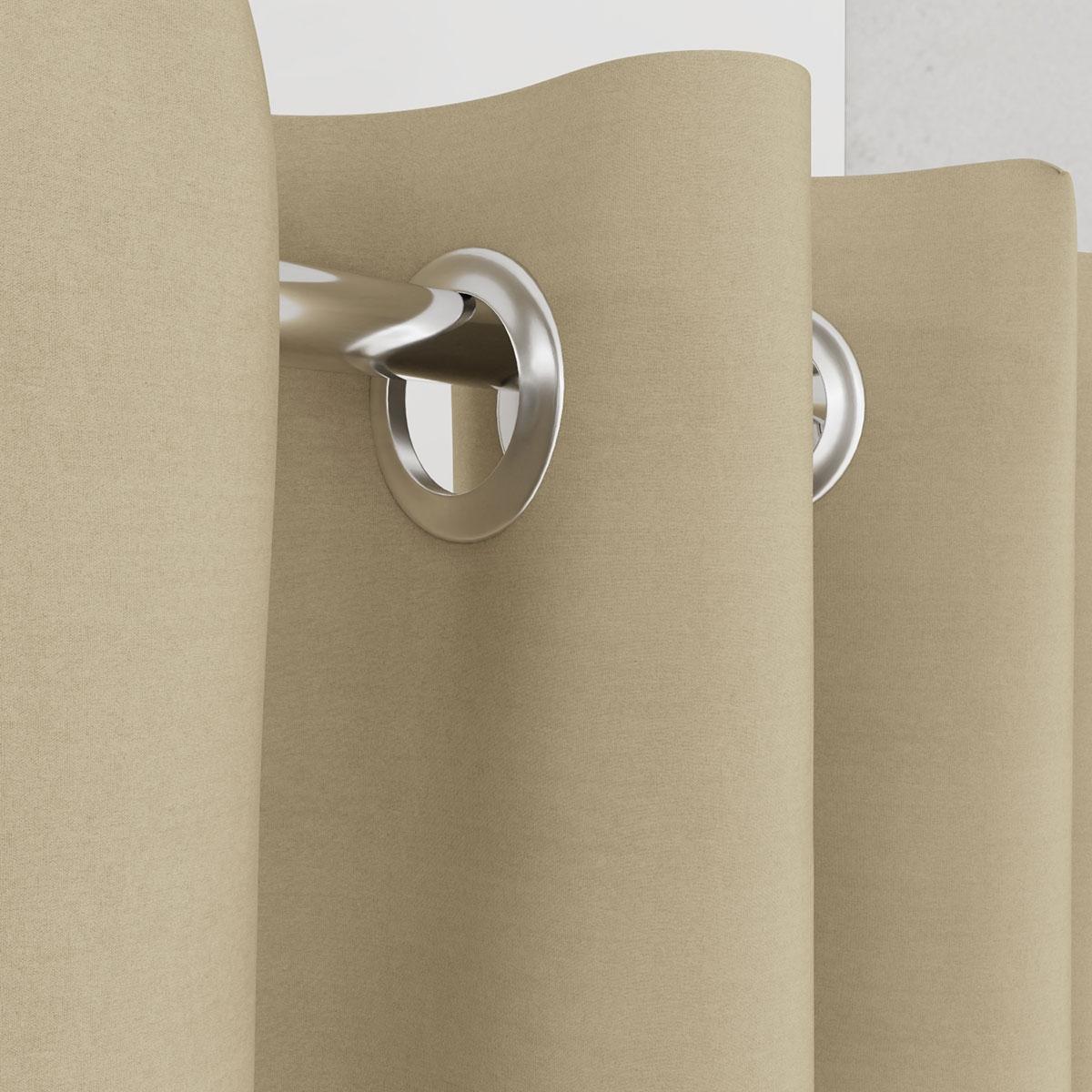 Vorhang beige für Umkleidekabine