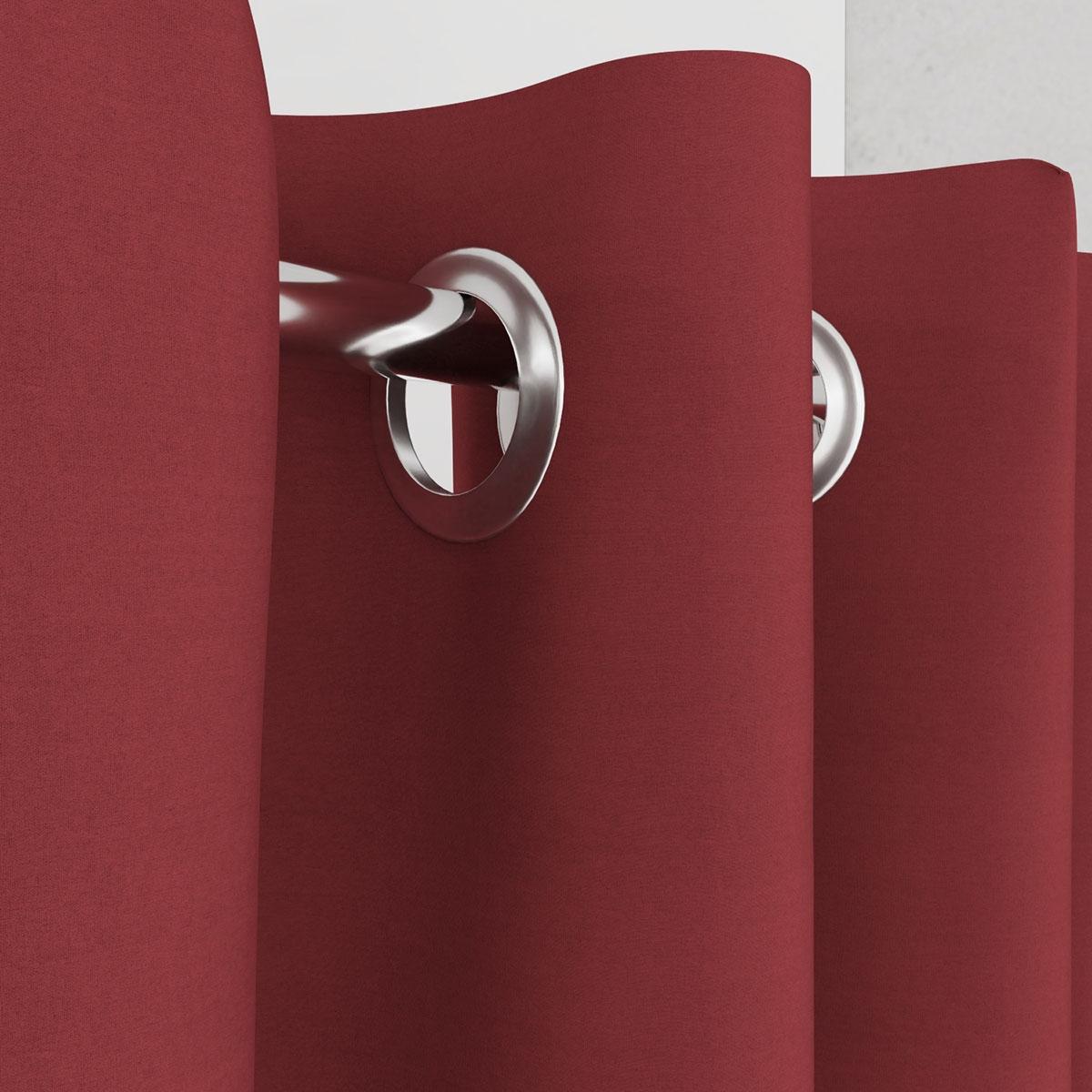 Vorhang rot für Umkleidekabine