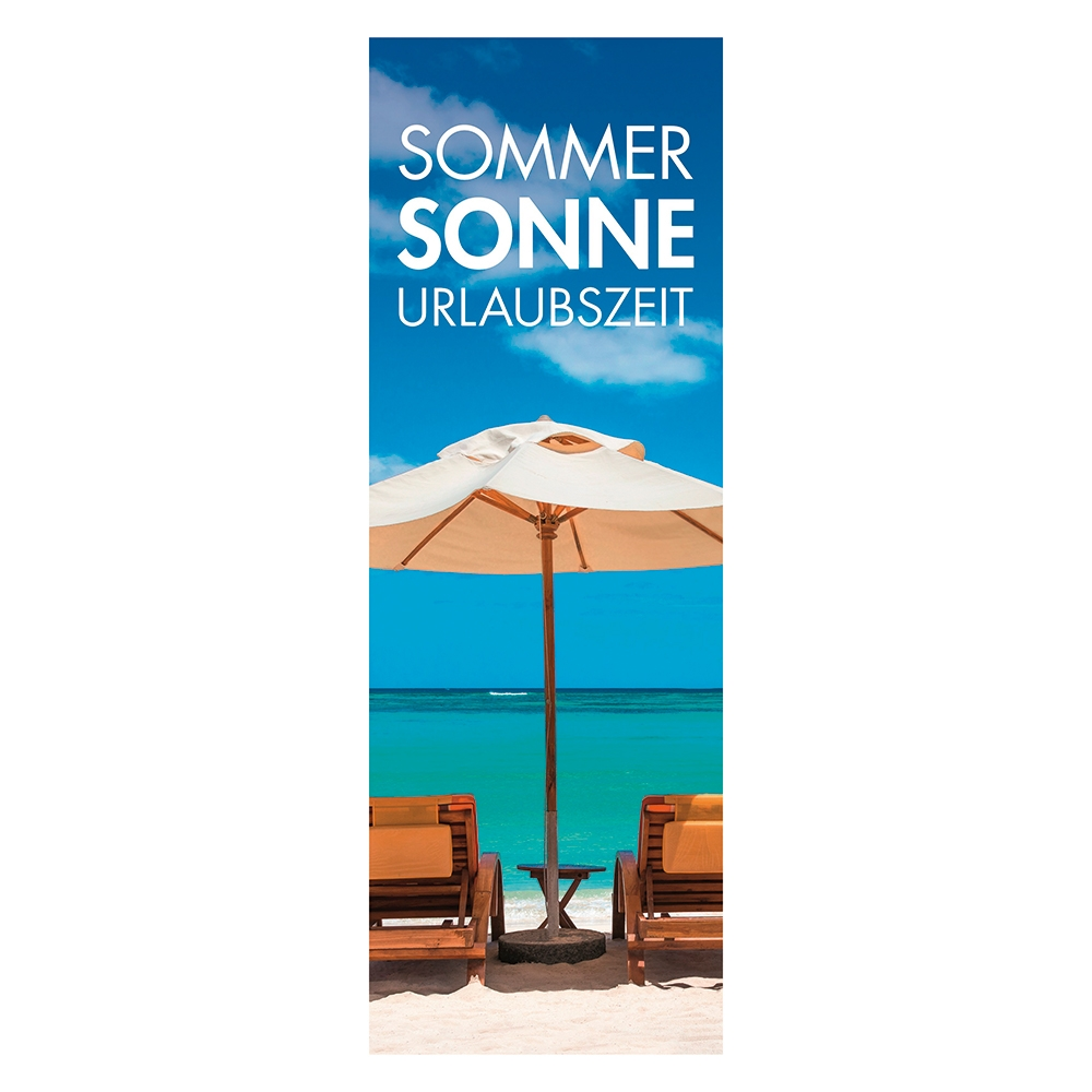 Plakat 'Sommer-Sonne-Urlaubszeit'