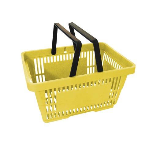 Einkaufskorb gelb