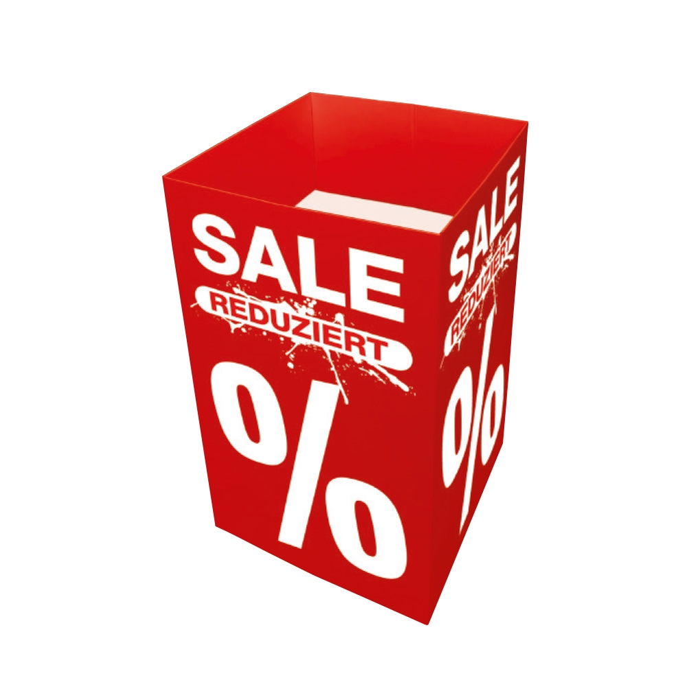 """Verkaufsschütte """"Sale Reduziert %"""""""