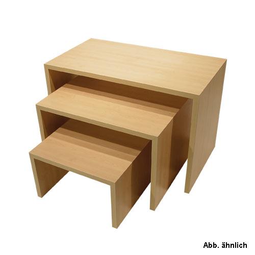 Stufentisch-Set Dekor Buche