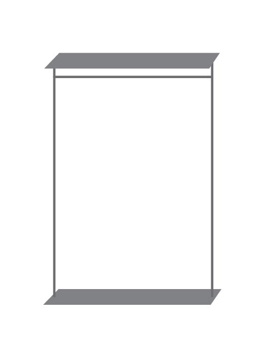 Wand-Display stehend inkl. Fachböden