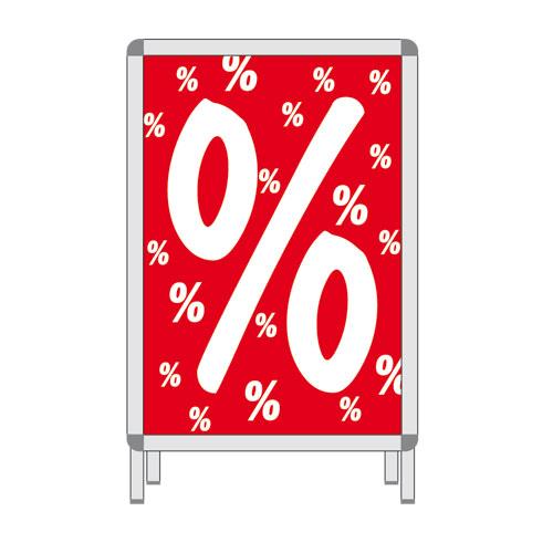 Rahmenschild %-Zeichen A1