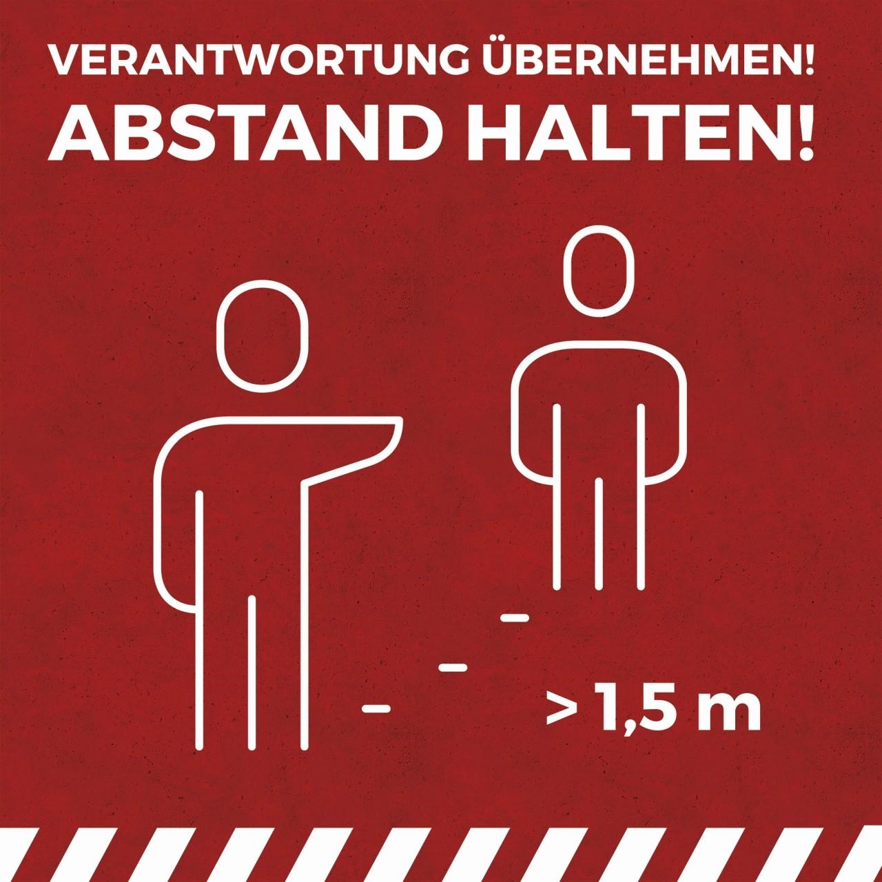 """Vinylboden """"Abstand halten"""""""