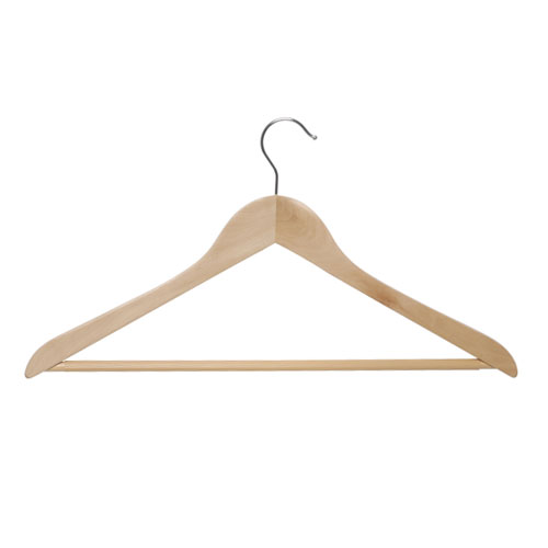 Holz-Kleiderbügel gewinkelt