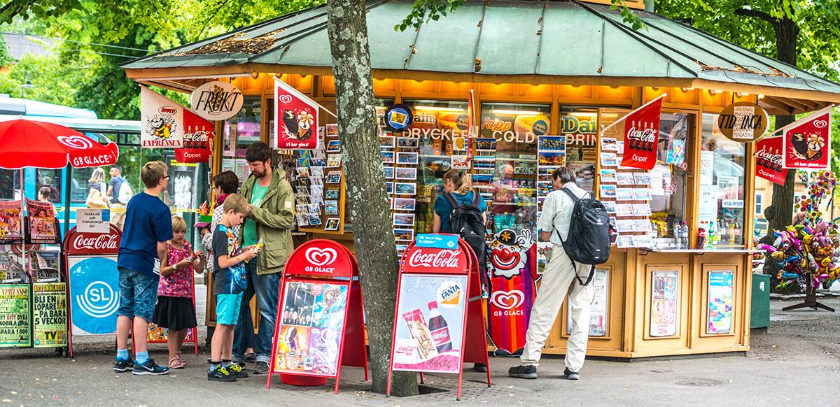 Ladenausstattung eines Kiosks