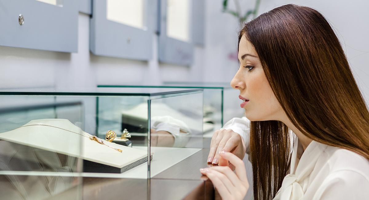 Ladeneinrichtung bei Juwelieren