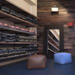 Wandschienen zur Gestaltung der Ladeneinrichtung
