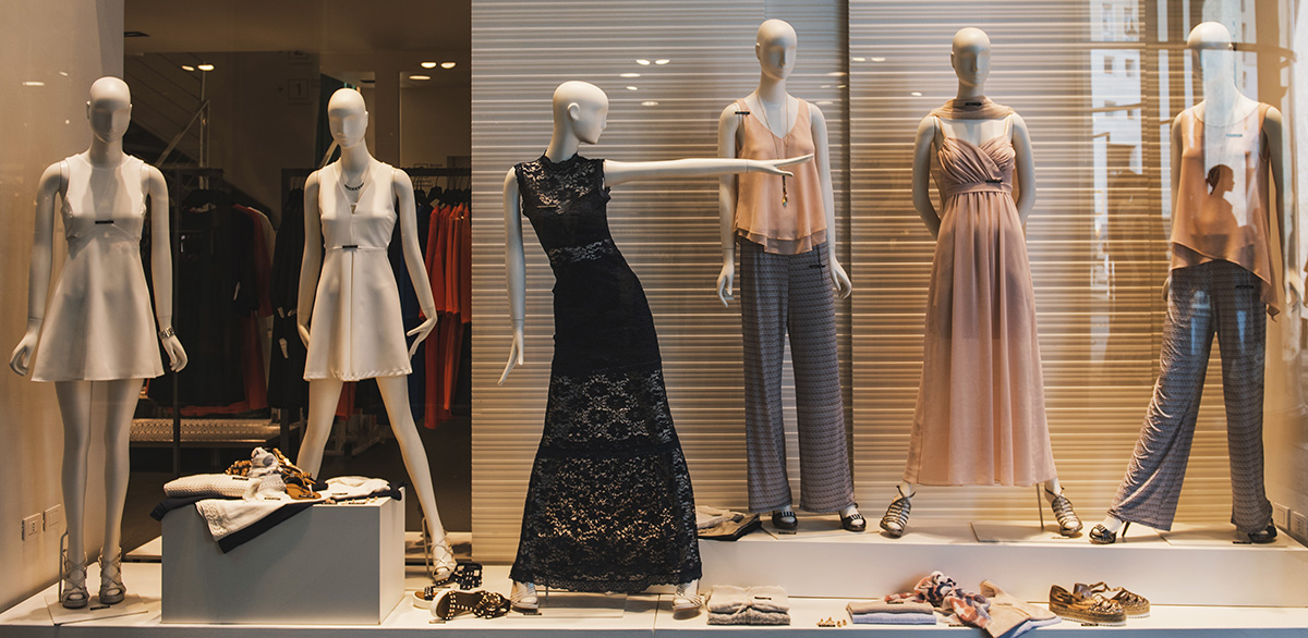 Schaufenster-Arten Einzelhandel Geschäft