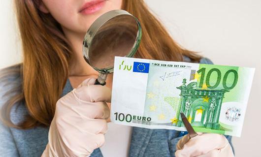 Geldscheine auf Echtheit prüfen