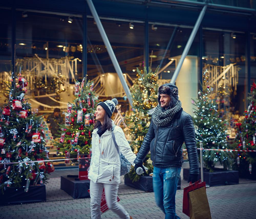 Saison Weihnachts Einkauf