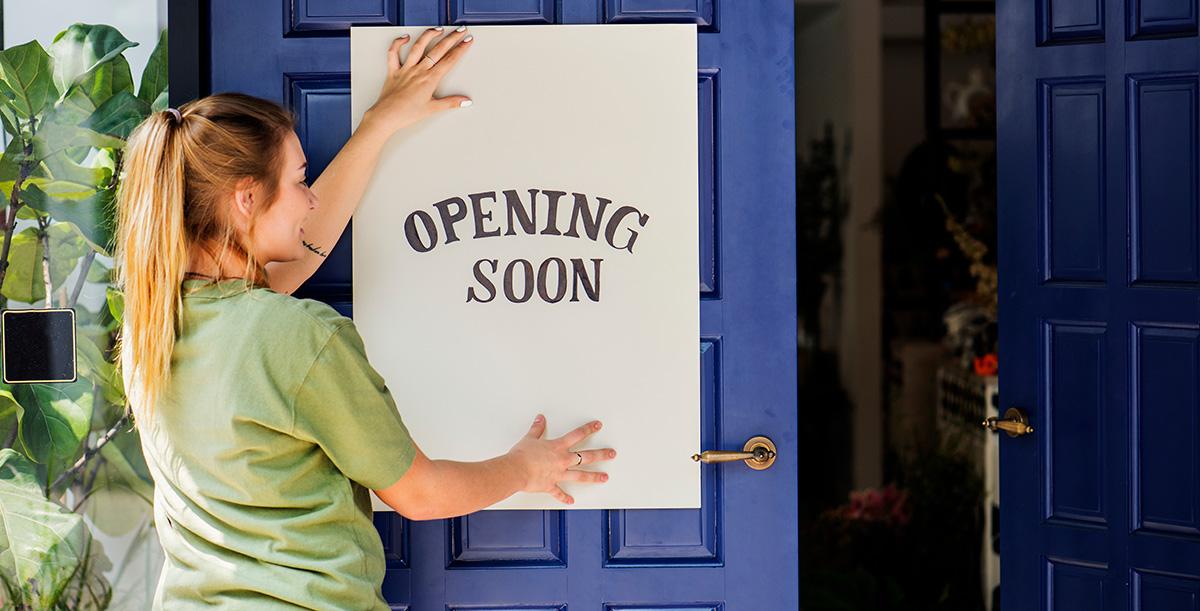 Eröffnung Einzelhandel